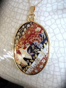 Detail Image for art Birds & Blooms Chiyogami Pendant