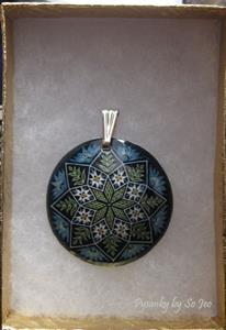 Detail Image for art Blue Jacob's Ladder Pendant