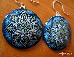 Detail Image for art Blue Jacob's Ladder Earrings