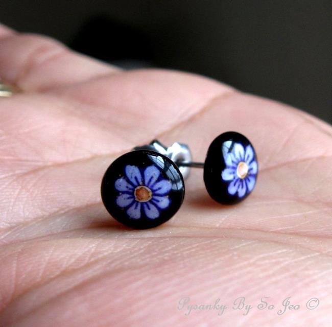 Art: Tiny Purple Flowers by Artist So Jeo LeBlond