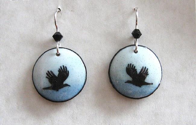 Art: Two Crows Joy by Artist So Jeo LeBlond