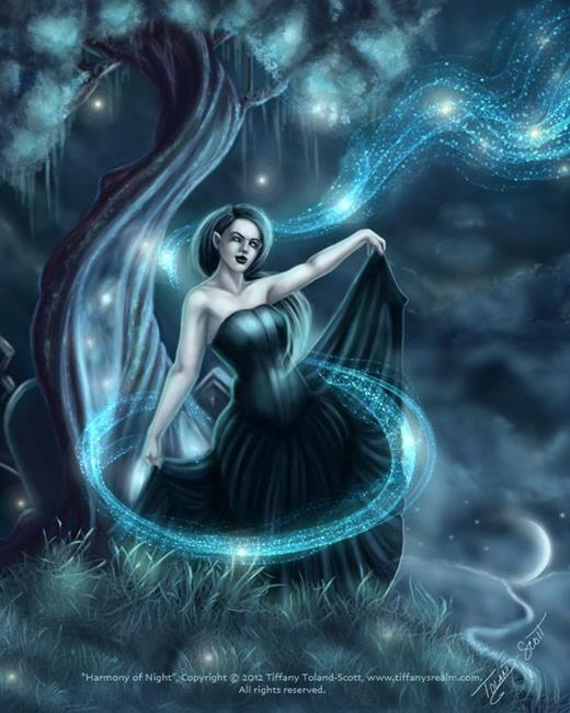 Art: Harmony of Night by Artist Tiffany Toland-Scott