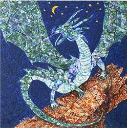 Art: Dragon Sapphira by Artist Ulrike 'Ricky' Martin