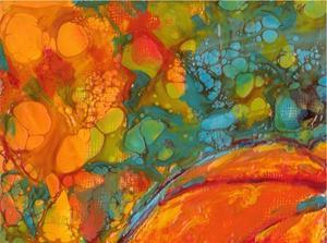 Detail Image for art Encaustic Pumpkin