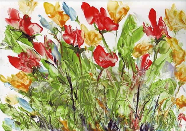 Art: Wildflower Patch -sold by Artist Ulrike 'Ricky' Martin
