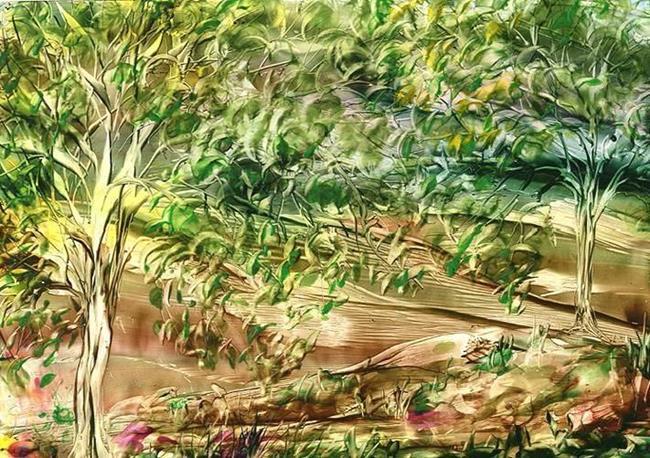 Art: LEAVES TURNING by Artist Ulrike 'Ricky' Martin