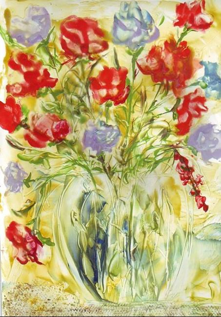 Art: Flower Bouquet - sold by Artist Ulrike 'Ricky' Martin