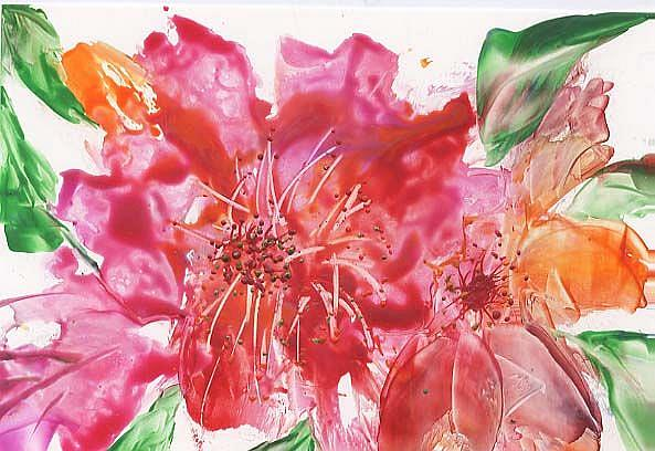 Art: FLORAL # 9 - sold by Artist Ulrike 'Ricky' Martin