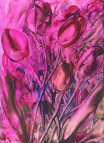 Art: Tulips # 15 by Artist Ulrike 'Ricky' Martin