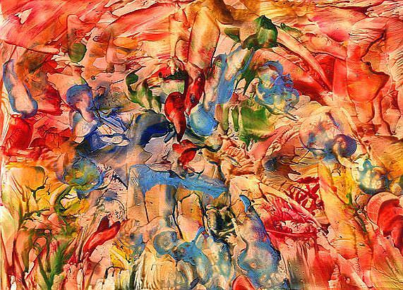 Art: Abstract # 91 by Artist Ulrike 'Ricky' Martin