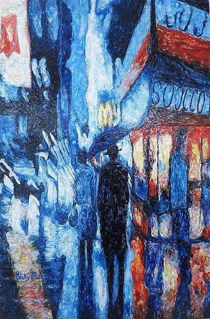 Art: New York Rainy Night - NFS by Artist Ulrike 'Ricky' Martin
