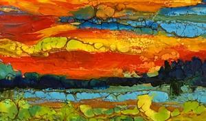 Detail Image for art Encaustic Landscape