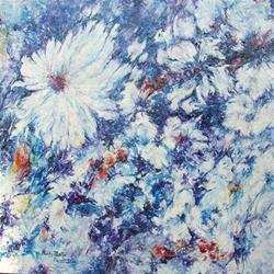 Art: Winter Flowers by Artist Ulrike 'Ricky' Martin