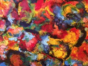 Detail Image for art Abstract Encaustic Painting
