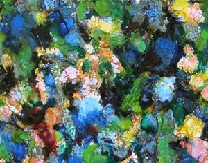 Detail Image for art Encaustic Wildflowers