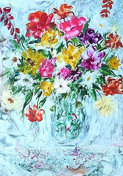 Art: Spring Bouquet - sold by Artist Ulrike 'Ricky' Martin