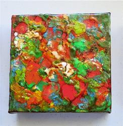 Art: Encaustic Abstract 3 by Artist Ulrike 'Ricky' Martin