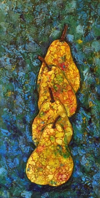 Art: 4 Pears All In A Row by Artist Ulrike 'Ricky' Martin