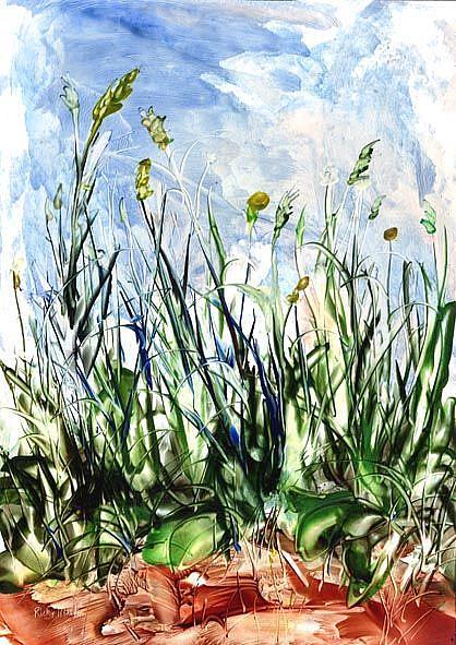 Art: Field Flowers by Artist Ulrike 'Ricky' Martin