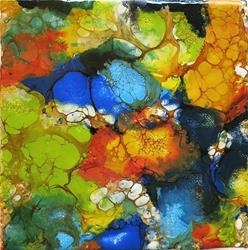 Art: ENCAUSTIC ABSTRACT 1 - sold by Artist Ulrike 'Ricky' Martin