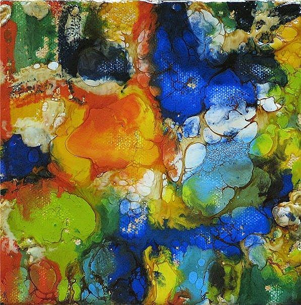 Art: ENCAUSTIC ABSTRACT 2 - sold by Artist Ulrike 'Ricky' Martin