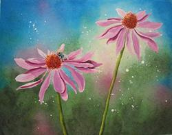 Art: Enchanted Coneflowers by Artist Melanie Pruitt