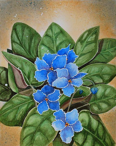 Art: Remembering Grandmas Violets by Artist Melanie Pruitt