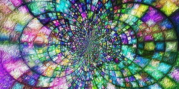 Art: God's Glory Shining Through by Artist Alma Lee