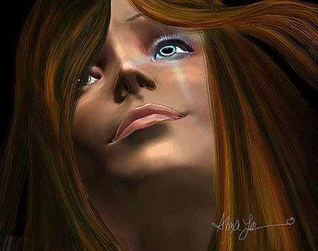 Art: Whom He set Free by Artist Alma Lee