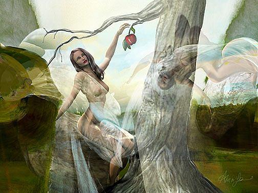 Art: The first temptation of Eve lr.jpg by Artist Alma Lee