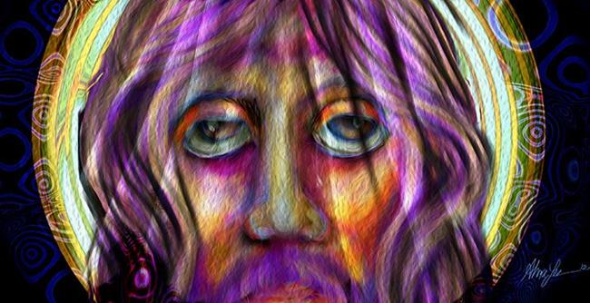 Art: Christ by Artist Alma Lee