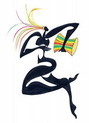 Art: Drum Dancer by Artist Roy Guzman