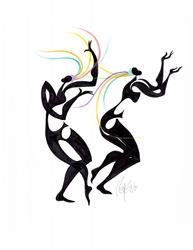 Art: Free Dancers by Artist Roy Guzman