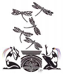 Art: Dragonfly Dancers by Artist Roy Guzman