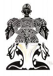 Art: Altar Dancers by Artist Roy Guzman