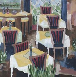 Art: Les Fauves Bistro by Artist Gail Meyer