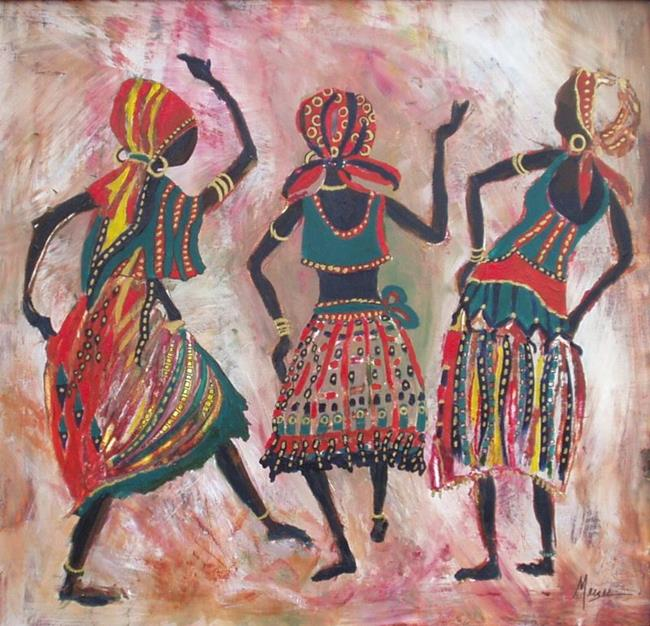 African Dancers By Gail Meyer From Expressionistic Gallery