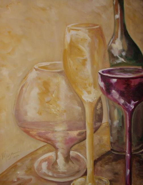 Art: Wine Delight by Artist Gail Meyer