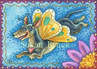 Art: FLYING HOT DOG by Artist Susan Brack