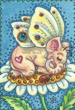 Art: WEE LITTLE PINKY by Artist Susan Brack