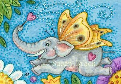 Art: SPREADING LOVE IN THE GARDEN by Artist Susan Brack