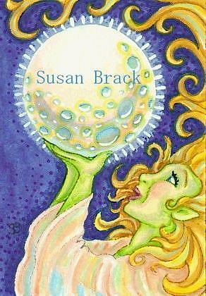 Art: HARVEST MOON by Artist Susan Brack