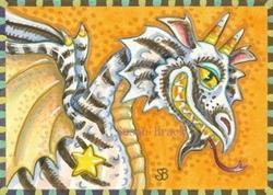 Art: DRAGON WITH A CANDY CORN GRIN by Artist Susan Brack