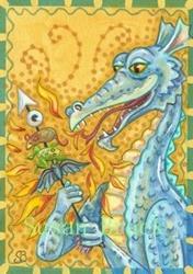 Art: BLUE DRAGON SHISHKEBAB by Artist Susan Brack