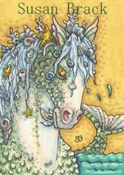 Art: SEA TRINKET MERHORSE by Artist Susan Brack