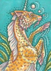 Art: DEEP DIVING MERHORSE by Artist Susan Brack