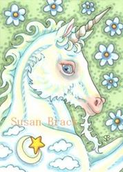 Art: HEAVEN AND EARTH UNICORN by Artist Susan Brack
