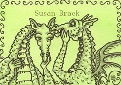 Art: SMILES ARE FREE DRAGON - Stamp by Artist Susan Brack