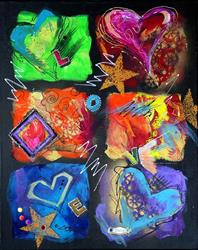 Art: LOVE FOREVER by Artist Dottie Cooper Katz