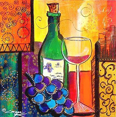 Art: RED RED WINE by Artist Dottie Cooper Katz